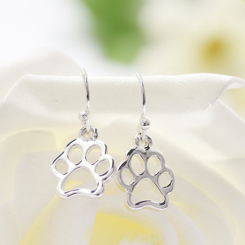 Hollow Paw Print Earrings