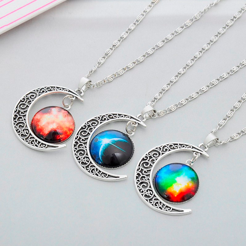 Star Moon Pendant Necklace - Grateful Bacon