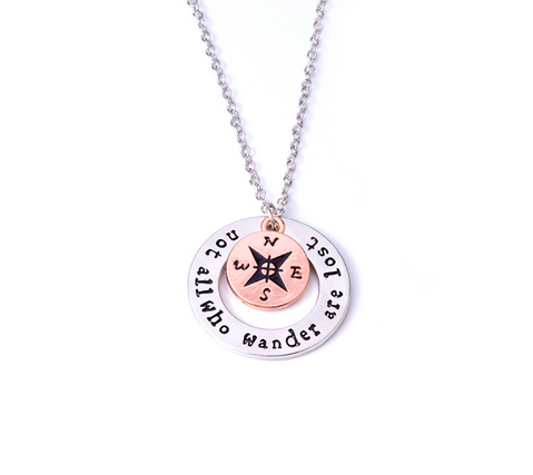 Not All Who Wander Are Lost Necklace - Grateful Bacon