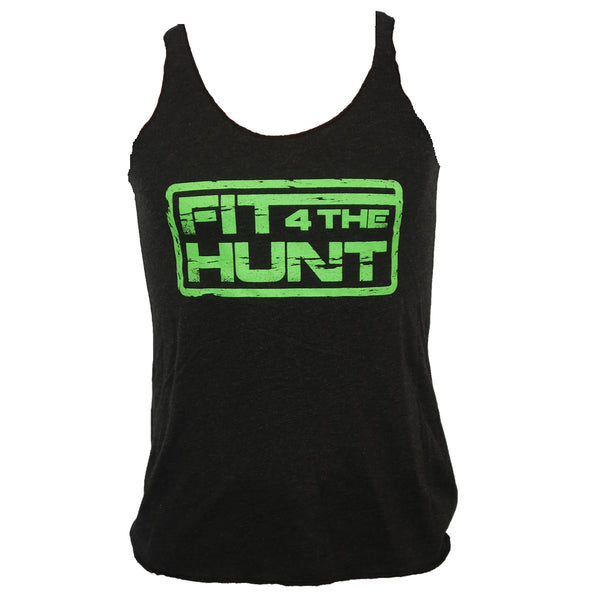 Women's Tank - Neon Green on Black