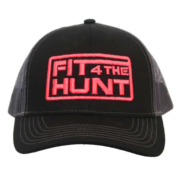 Hat-Trucker Style-Black with Pink Logo