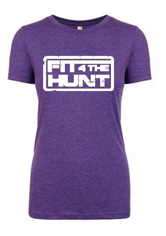 Women's Summer Tee White on Purple
