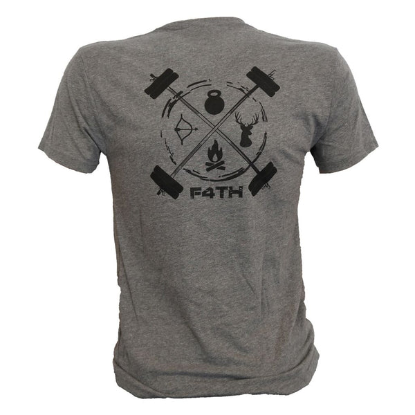 Men's Tee - Black on Gray