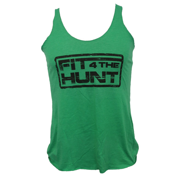 Women's Tank - Black on Light Green