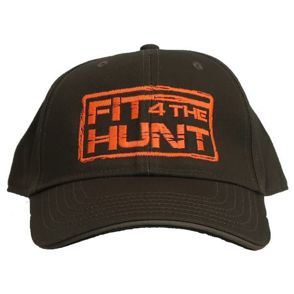 Hat-Full Cover-Olive Green-Orange Logo