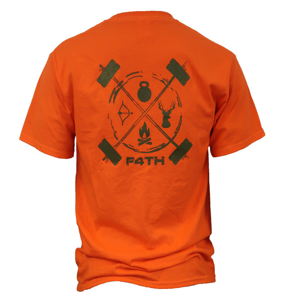 Men's Tee - Green on Hunter Orange