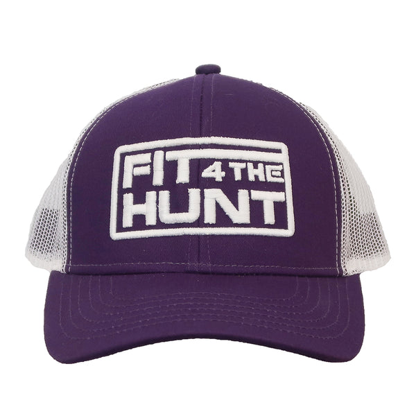 Hat-Trucker Style - Purple with White Logo