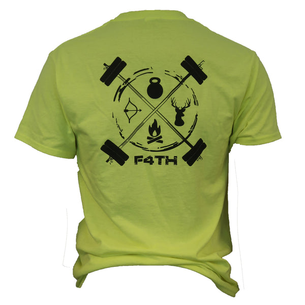 Men's Tee - Black on Fluorescent Yellow
