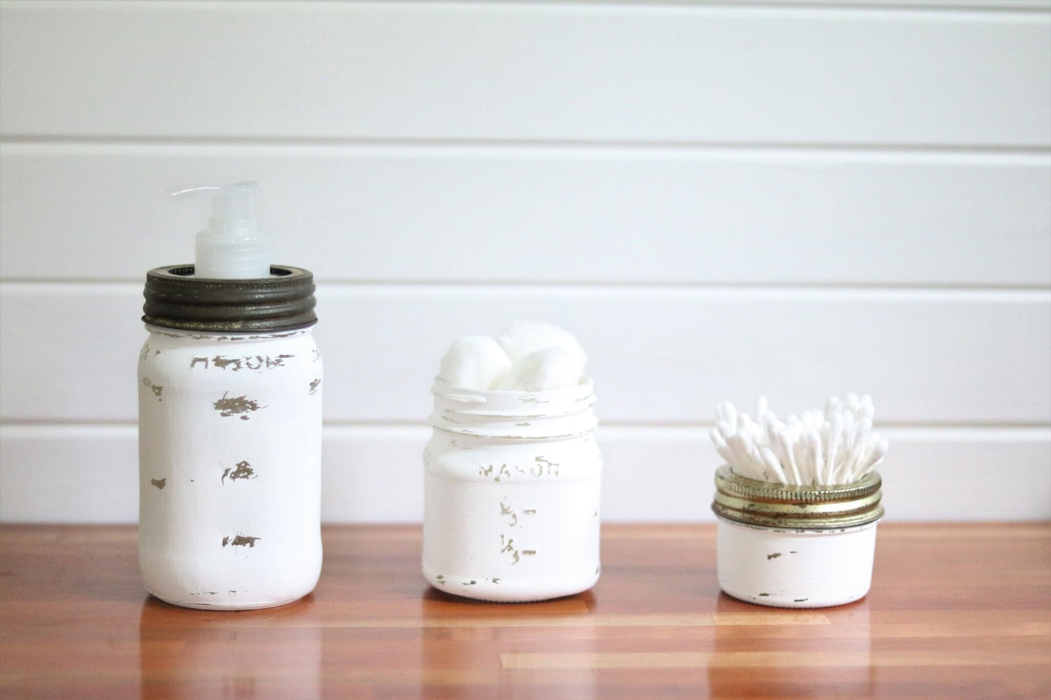 This craft idea can work with all sizes of Antique Candle Works Mason jar  candles! Get them all cleaned out and paint the jars using your favorite  chalk ...