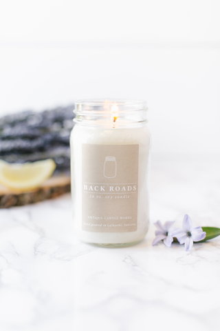 Back Roads 16oz Mason Jar Candle