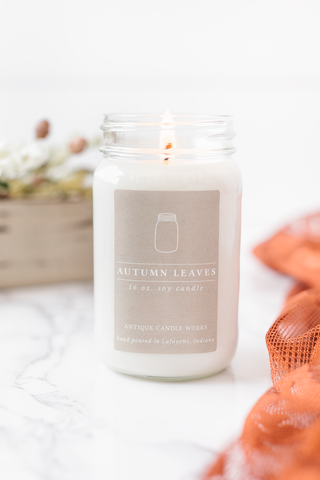 Autumn Leaves 16oz Mason Jar Candle