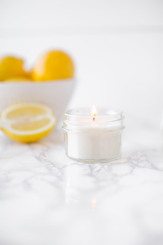 Sweet Lemon 4oz Mason Jar Candle