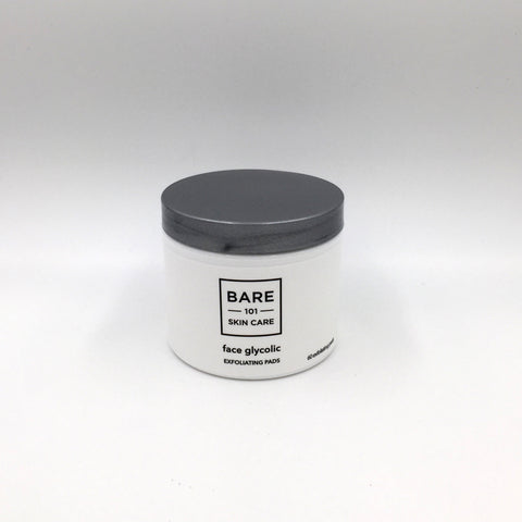 face glycolic: exfoliating pads