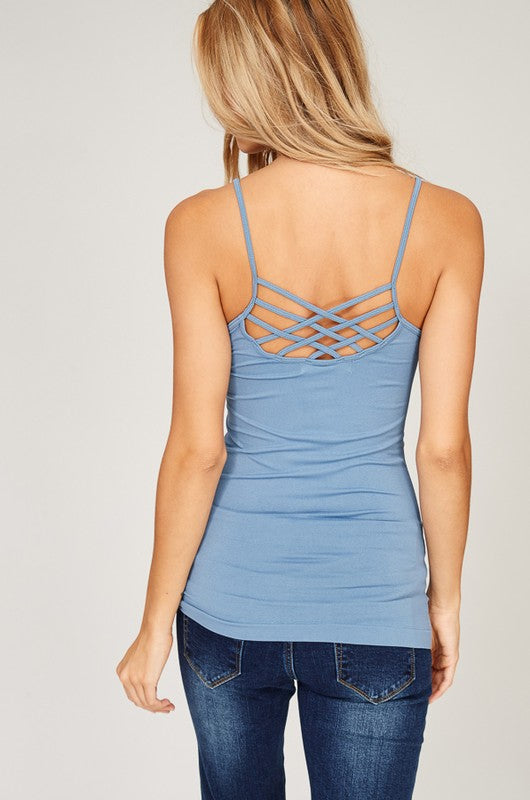 SEAMLESS TANK TOP  with Criss Cross Back 00957