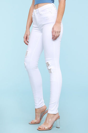 White lace skinny 01184