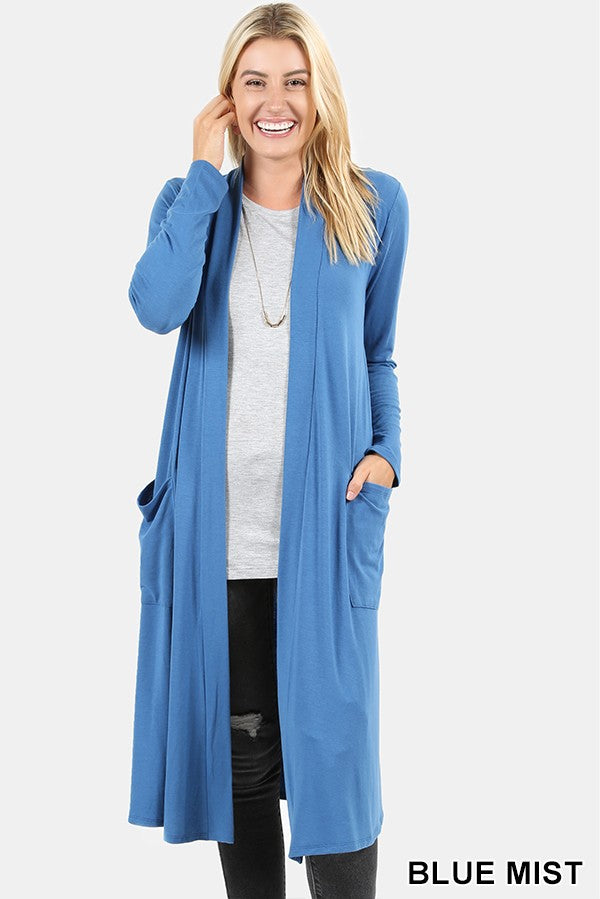 SLOUCHY POCKET OPEN CARDIGAN 01768