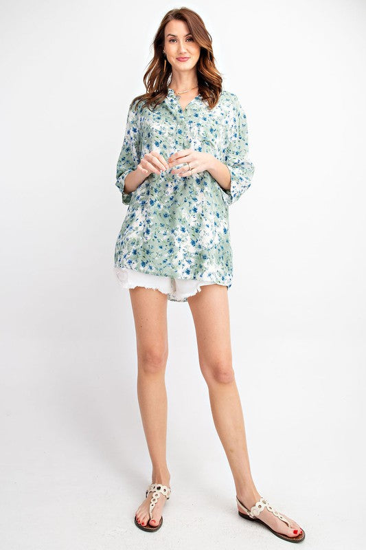 EYES ON YOU FLORAL PRINT SHIRT 01381
