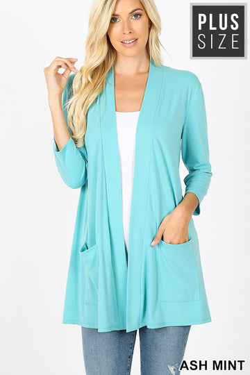 SLOUCHY POCKET OPEN CARDIGAN 01834