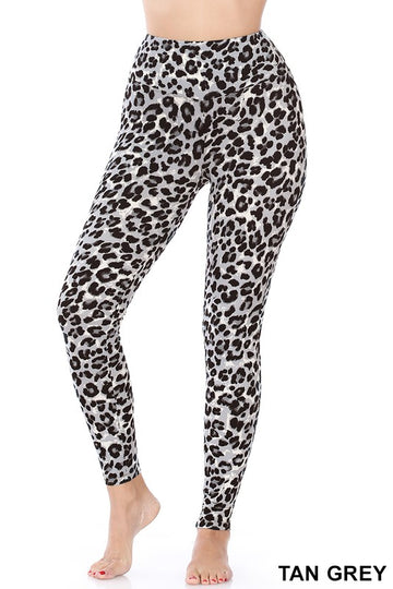 Leopard Print Leggings 02798