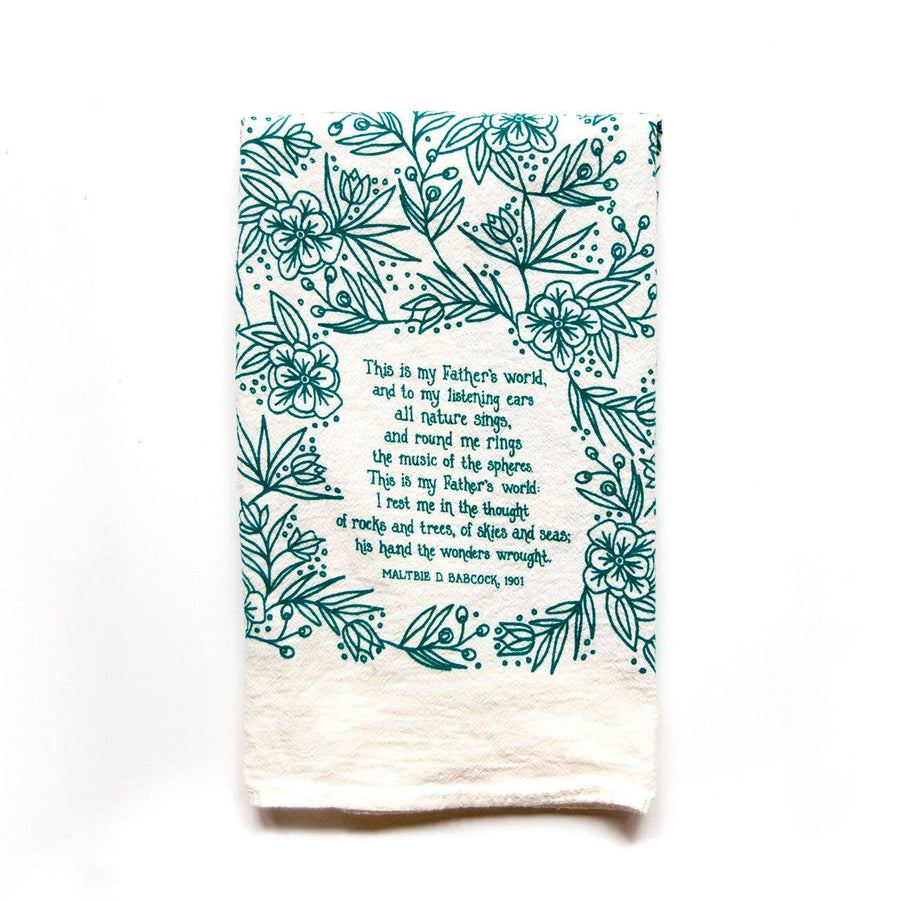 This is My Father's World Hymn Tea Towel 01609