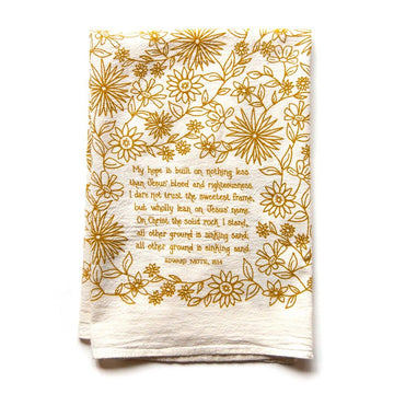 My Hope is Built Hymn Tea Towel 01607