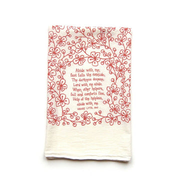Abide with Me Hymn Tea Towel 01595
