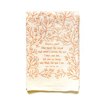 Amazing Grace Hymn Tea Towel 01596