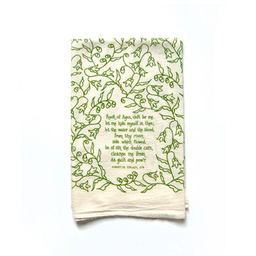 Rock of Ages Hymn Tea Towel 01608