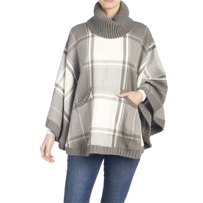 Hunter Rib Trim Poncho 02184