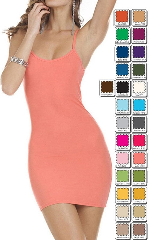 Solid Seamless Long Cami Top 00959