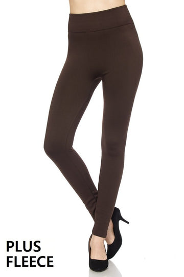 HIGH WAIST FLEECE LEGGING-Plus  02301