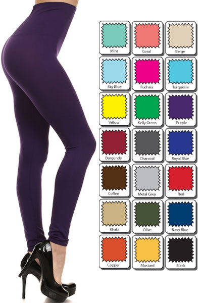 Solid Color Super High Waist Leggings 00917