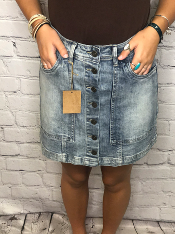 Jean Skirt with Buttons 01442