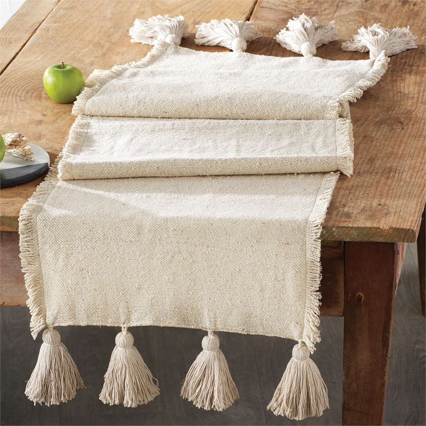 Ponchaa Ivory table Runner 02470