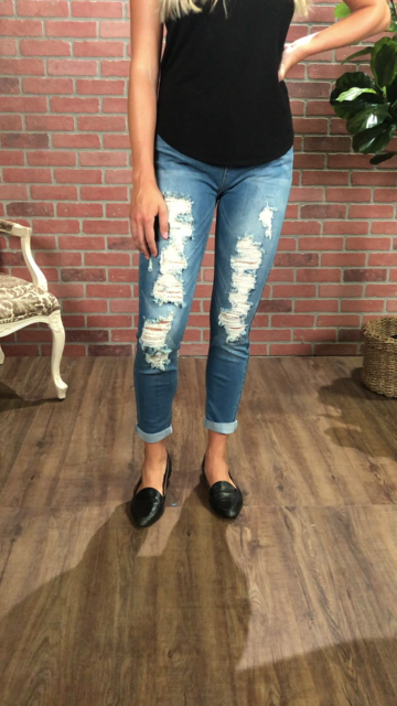 Harmony & Havoc Distressed Jeans 02191