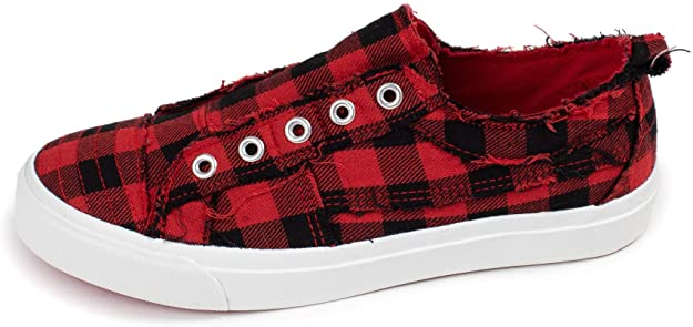 Red Plaid Sneaker 02339