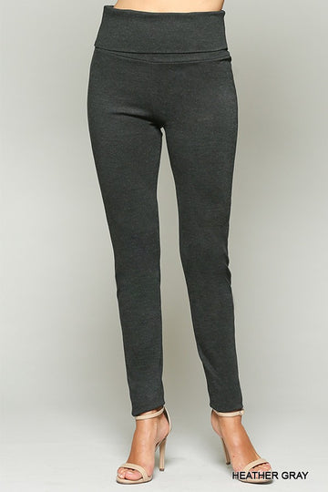 High Waist Stretch Solid Skinny Leggings 00670