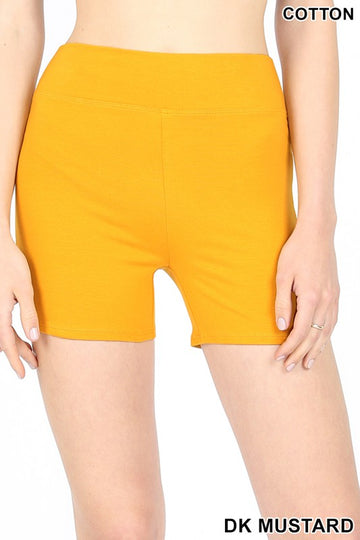 COTTON SHORT PANTS WITH WIDE WAIST BAND 01836