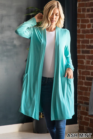 SLOUCHY POCKET OPEN CARDIGAN 01313