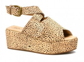 Corkys Marseille Crossed Straps Platform Wedges 00862