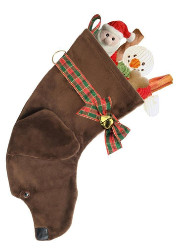 Chocolate Lab Stocking 02094