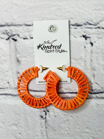 Rattan Hoop Earrings 01690