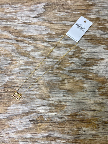 Rectangle Lock Necklace 01863