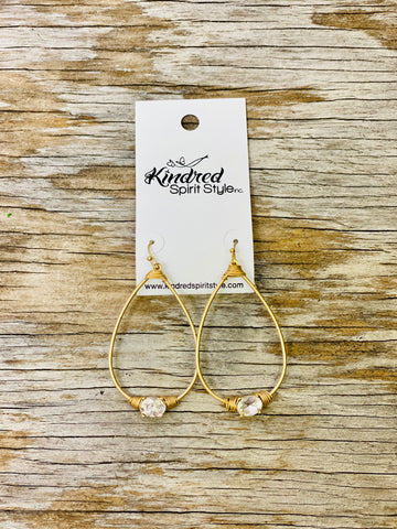Gold Teardrop Earrings- 01430
