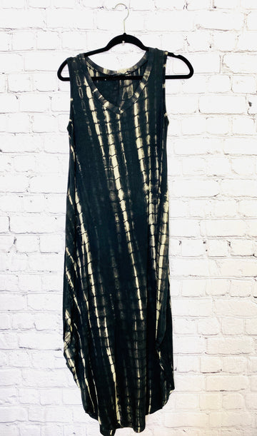 Tie Dye V-Neck Maxi Dress 02081