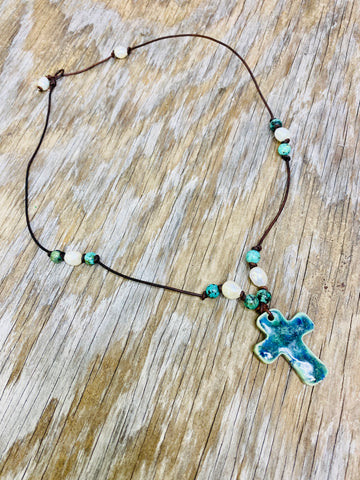 Pearl & Turquoise Necklace 02128