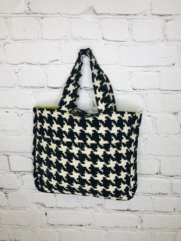 Black Houndstooth Bible Bag