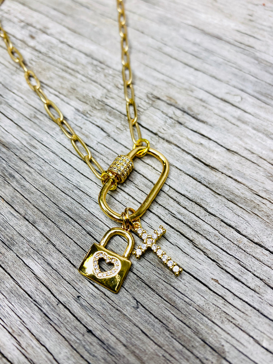 Lock Charm Necklace 02250