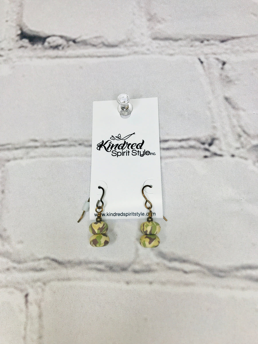 Camo Dangle Earrings 01208