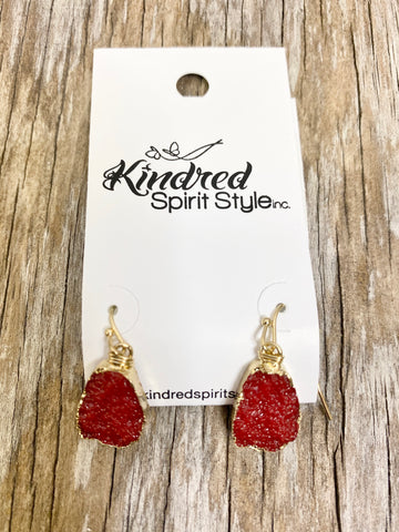 Druzy Dangle Earrings 00320